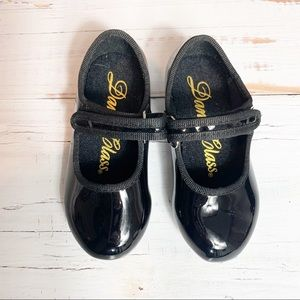 Dance Class Black Patent Girls tap shoes